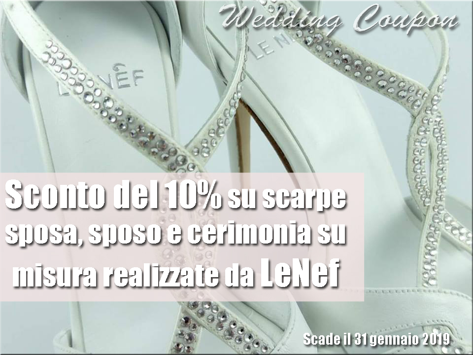 paquet à la mode et attrayant vaste sélection nouveau design Wedding Coupon | Sconti Matrimonio | Sposi Outlet: Sconto ...