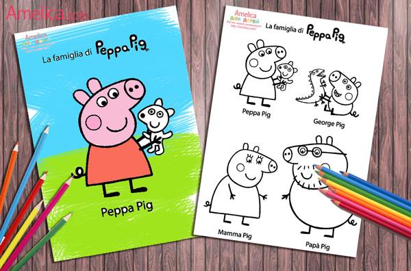 Забавные раскраски с любимыми героями мультфильма «Свинка Пеппа»