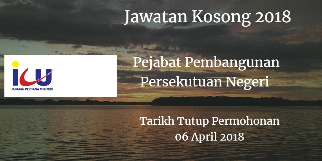 Jawatan Kosong Pejabat Pembangunan Persekutuan Negeri 06 April 2018