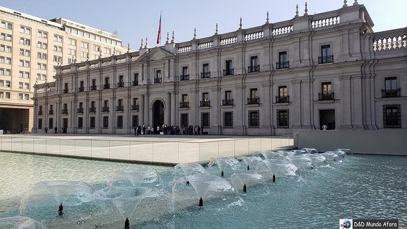 Parte traseira do Palácio de la Moneda - o que fazer em Santiago