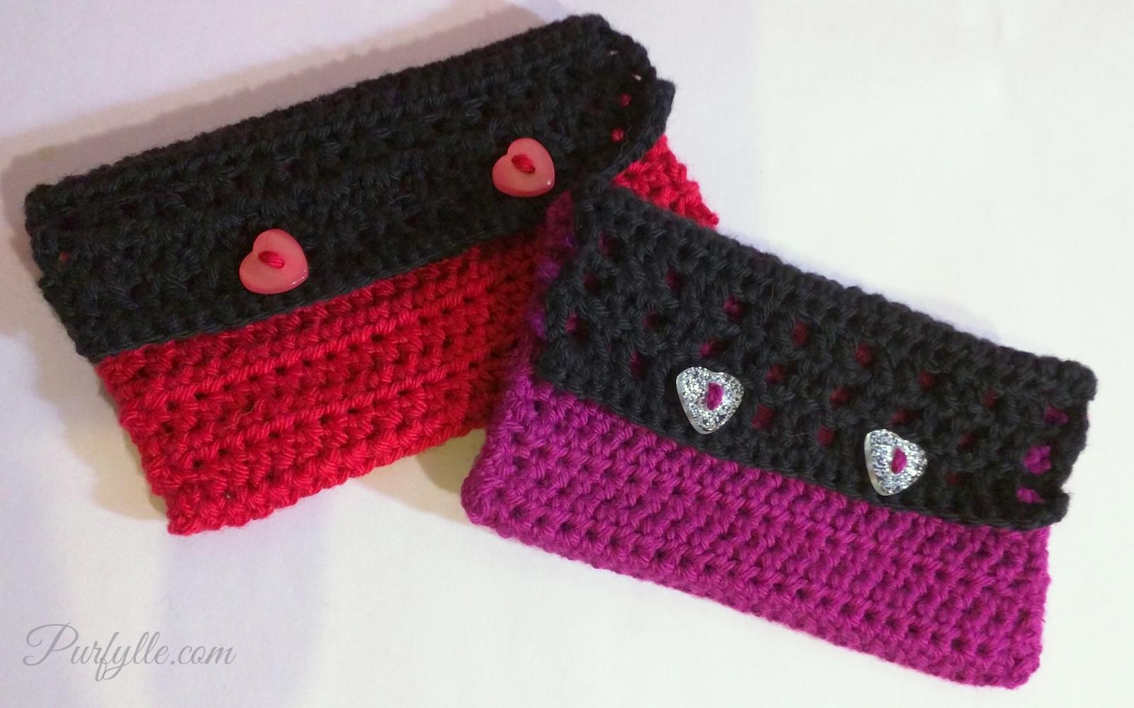 Free Crochet Pattern Gift Card : Purfylle: Crochet Gift Card Envelope - Free Pattern