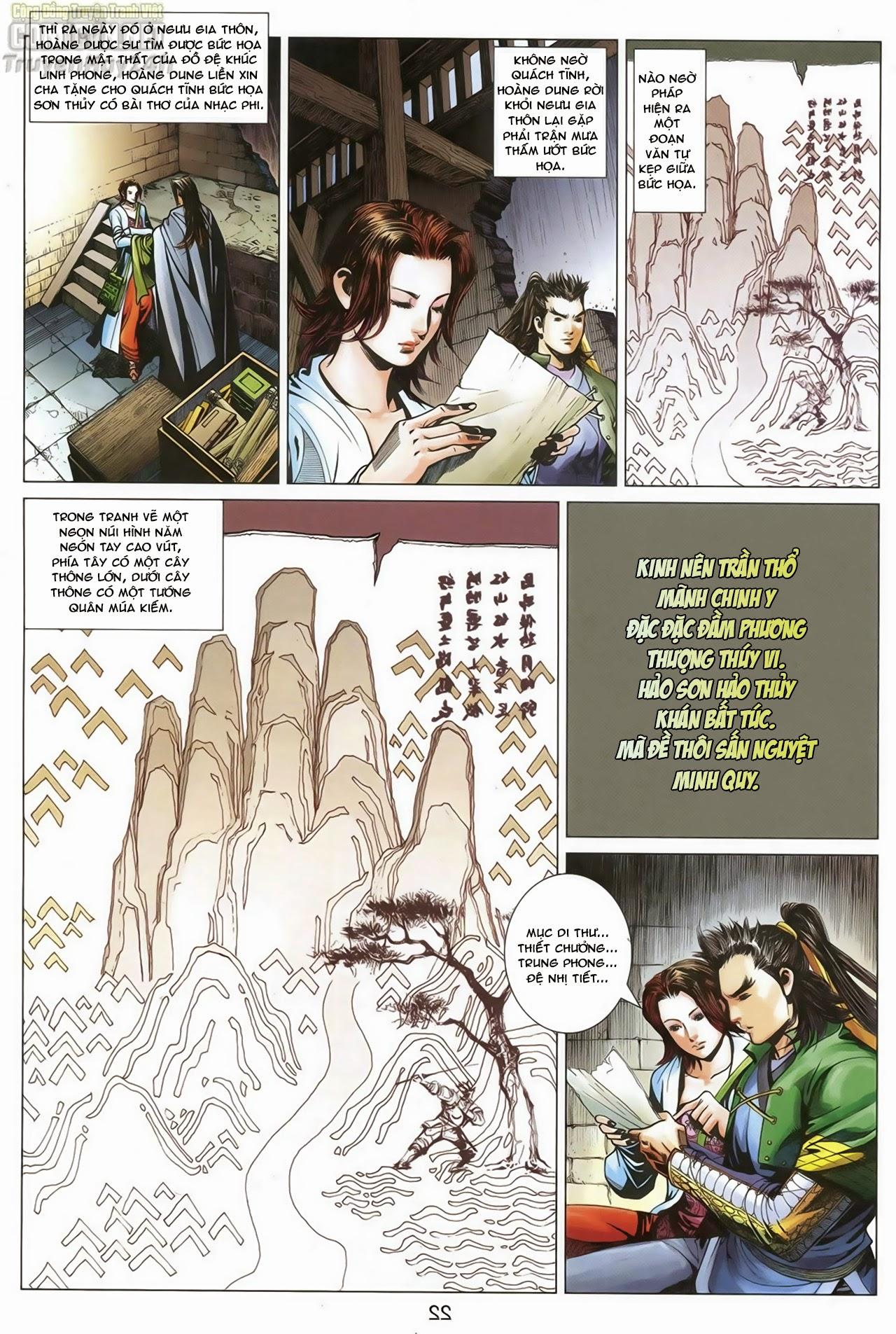 Anh Hùng Xạ Điêu anh hùng xạ đêu chap 68: di thư chân kinh - lừa tình trang 23