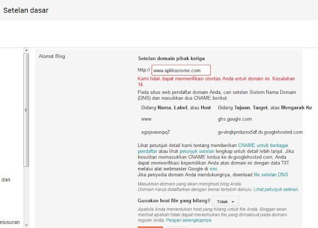 ganti domain blog, cara custom domain, cara setting blog agar domain menjadi com