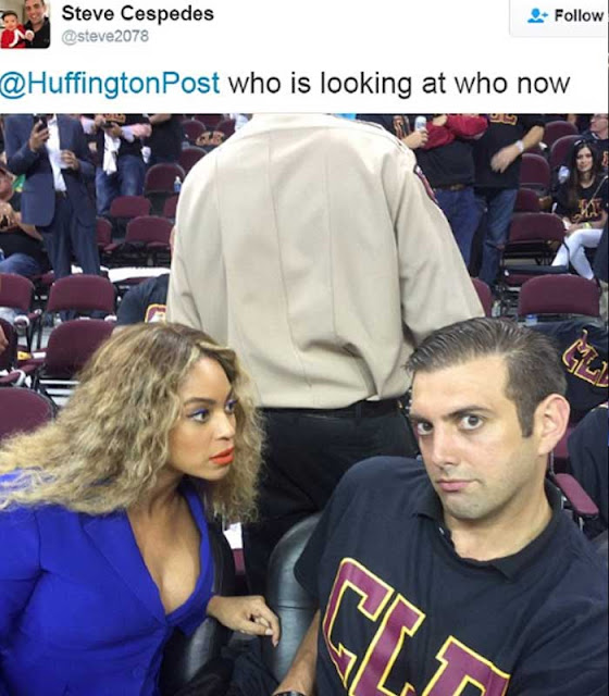 Beyoncé made time in her busy schedule for a joke during the NBA