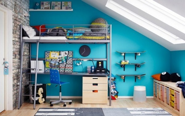 Bunk Bed For Youths With Colorful Cush Ion