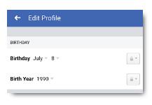 Hide Birthday On Facebook
