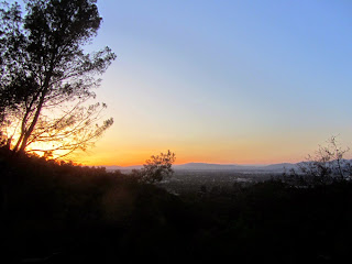 Sunset from Toyon Trail, Griffith Park