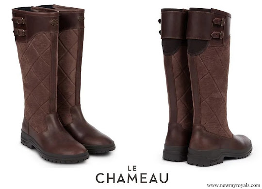Meghan Markle wore Le Chameau Jameson quilted leather boots