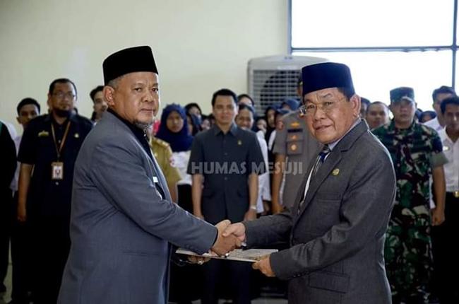 Indra Kusuma Wijaya Gantikan Adi Sukamto Jabat Sekda Mesuji