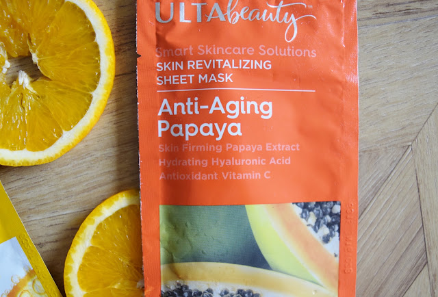 Ulta Beauty Anti-Aging Papaya Sheet Mask packet
