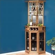 Wooden Corner bar Cabinet