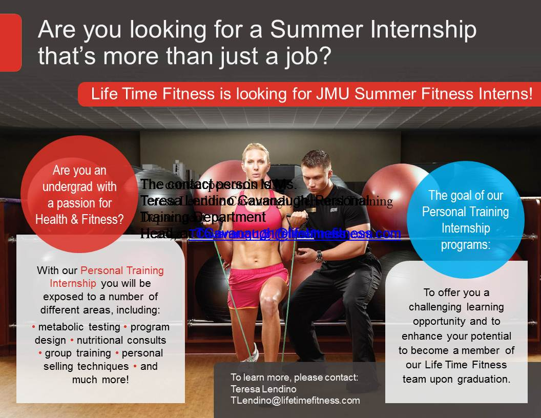 Opportunities for JMU Exercise Science Students: Lifetime