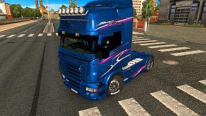 Blue Stream skin for Scania RJL