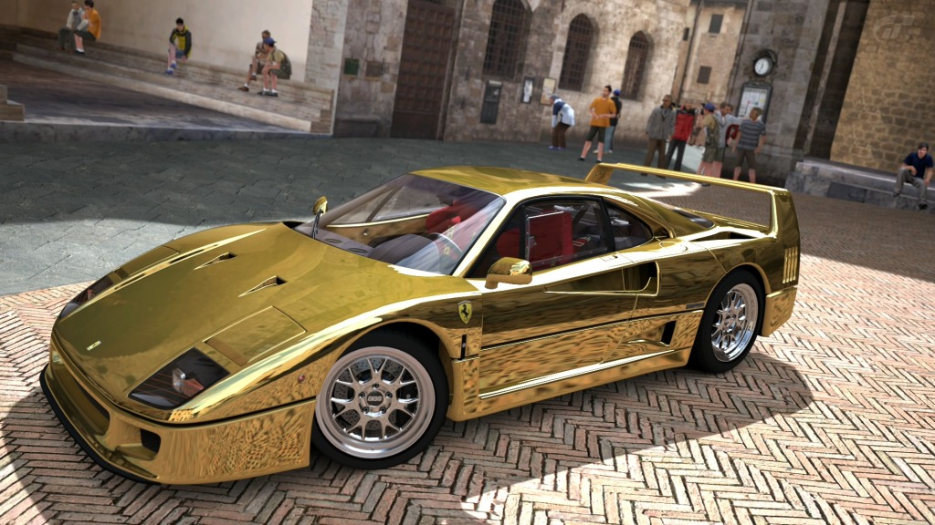 Car & Bike Fanatics: Gold Ferrari F40 GT5