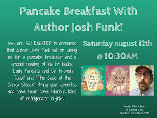 Franklin Public Library: pancakes, potluck, and book sale - Aug 12