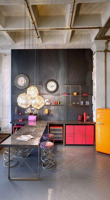 loft working space decor idea