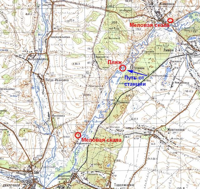 Карта участка Каменка-Двуречная