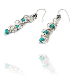 Beading Arts: Chain mail bead earrings