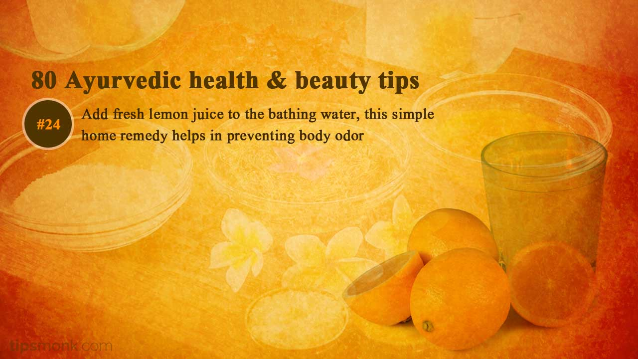 Ayurvedic beauty tips for body smell - Ayurveda home remedies, treatment image