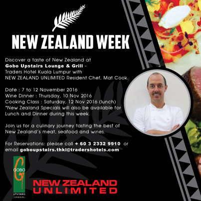 New Zealand Week @ Gobo Upstairs Lounge & Grill