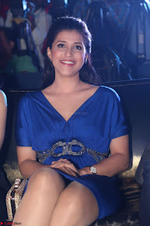 Mannara Chopra in Short Blue Dress at Rogue Movie Teaser Launch 1st March 2017 015.JPG