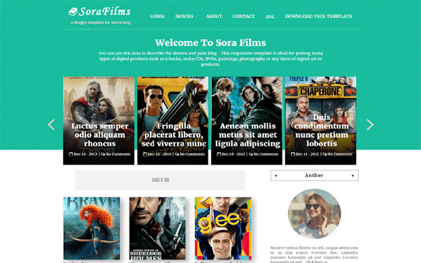 Sora Films Free Blogger Template