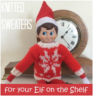 Knitted sweaters and jumpers for your Elf on the Shelf