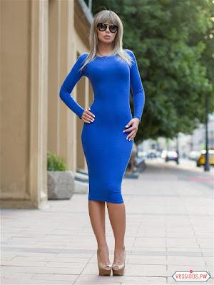vestidos color azul sencillos