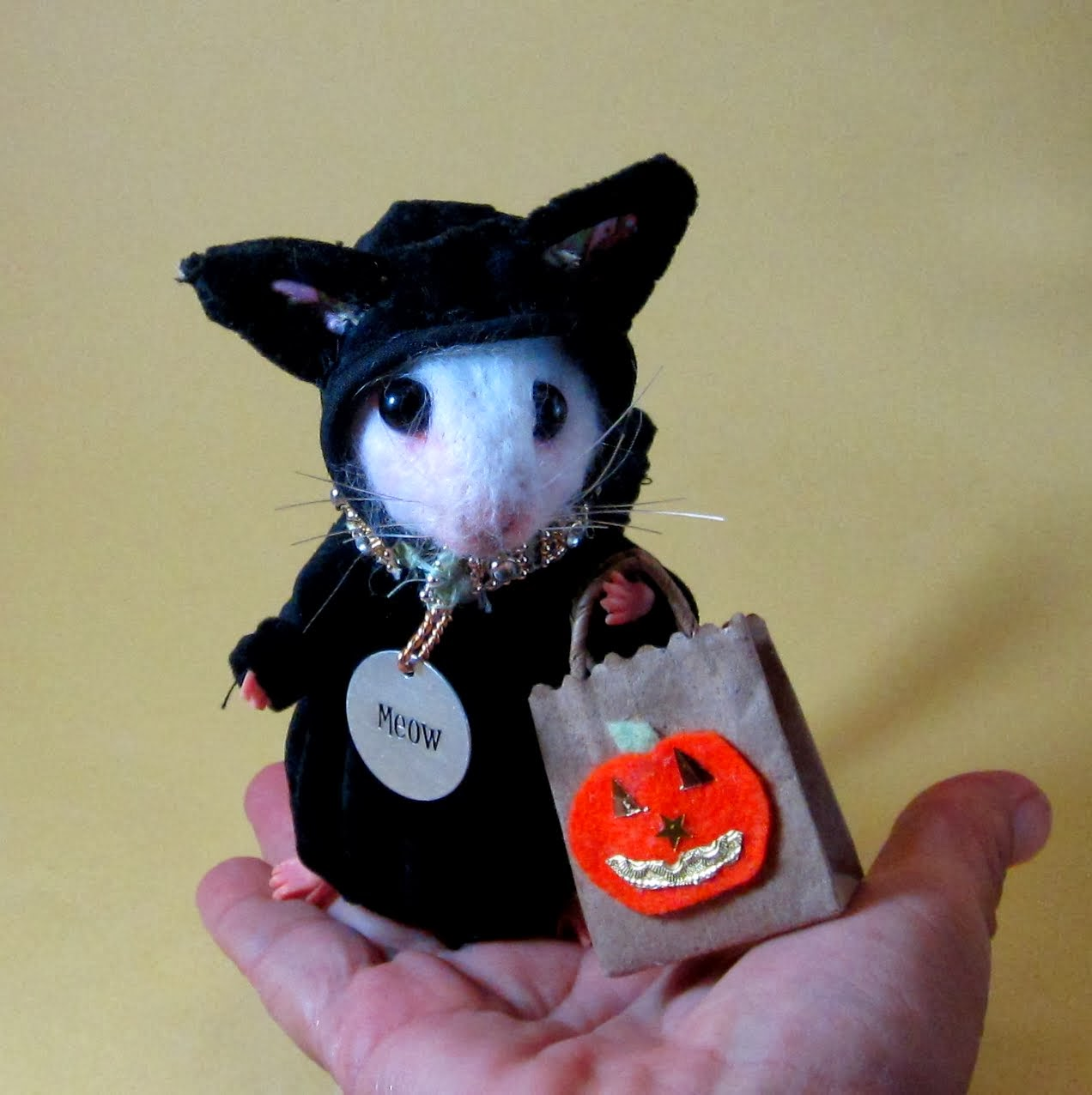 Needle Felted Art By Robin Joy Andreae Scary Mouse Costume