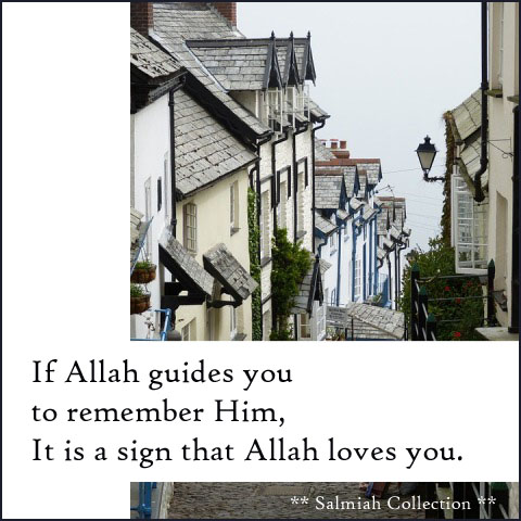 If Allah guides you to remember Him