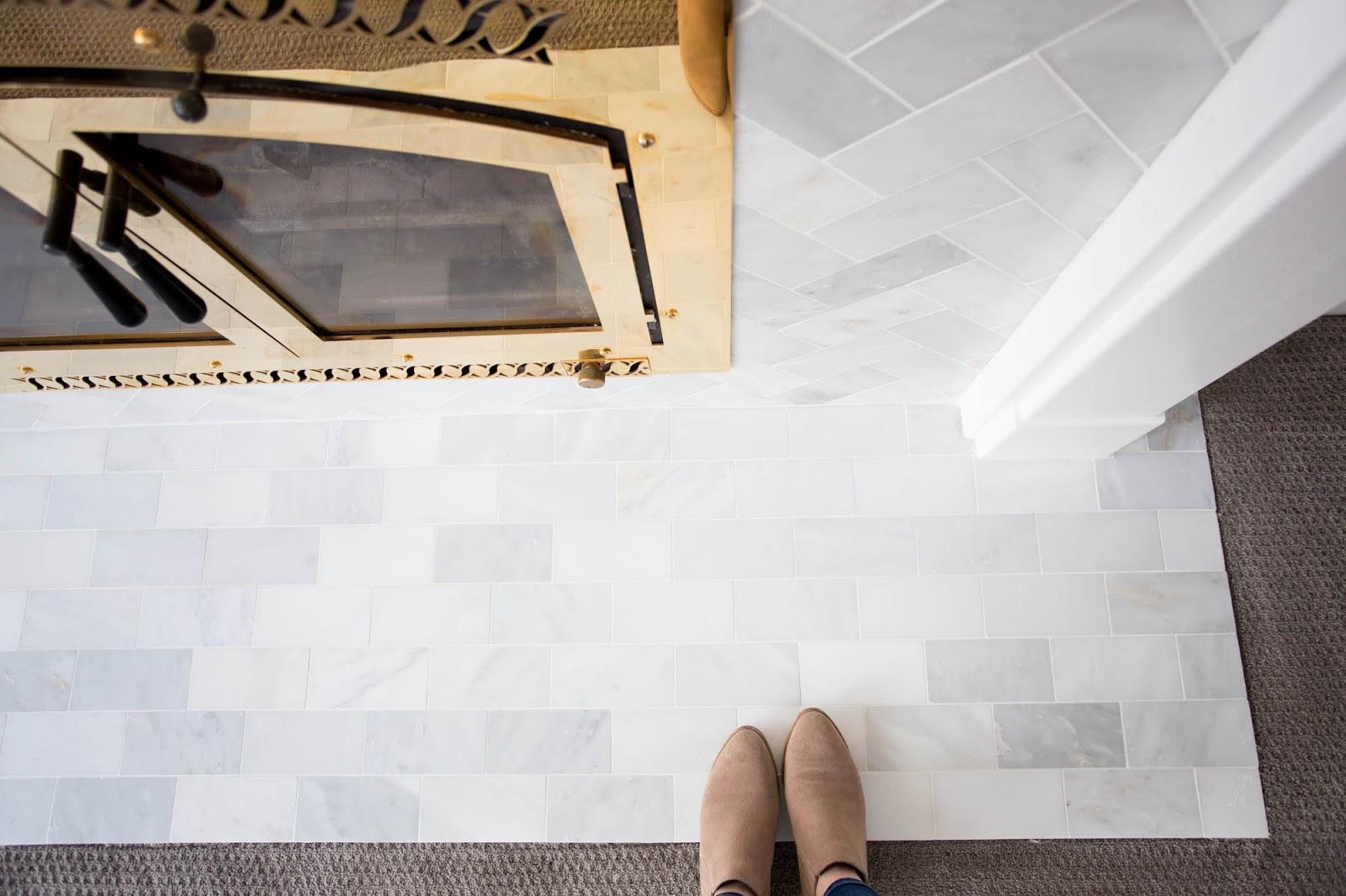 Do It Yourself Divas Diy Marble Tile Fireplace Renovation