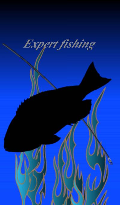 Expert fishing.