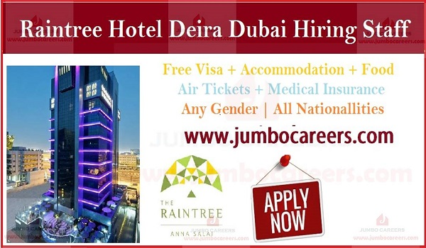 Hotel jobs in Dubai with food and accommodation, UAE jobs and careers,
