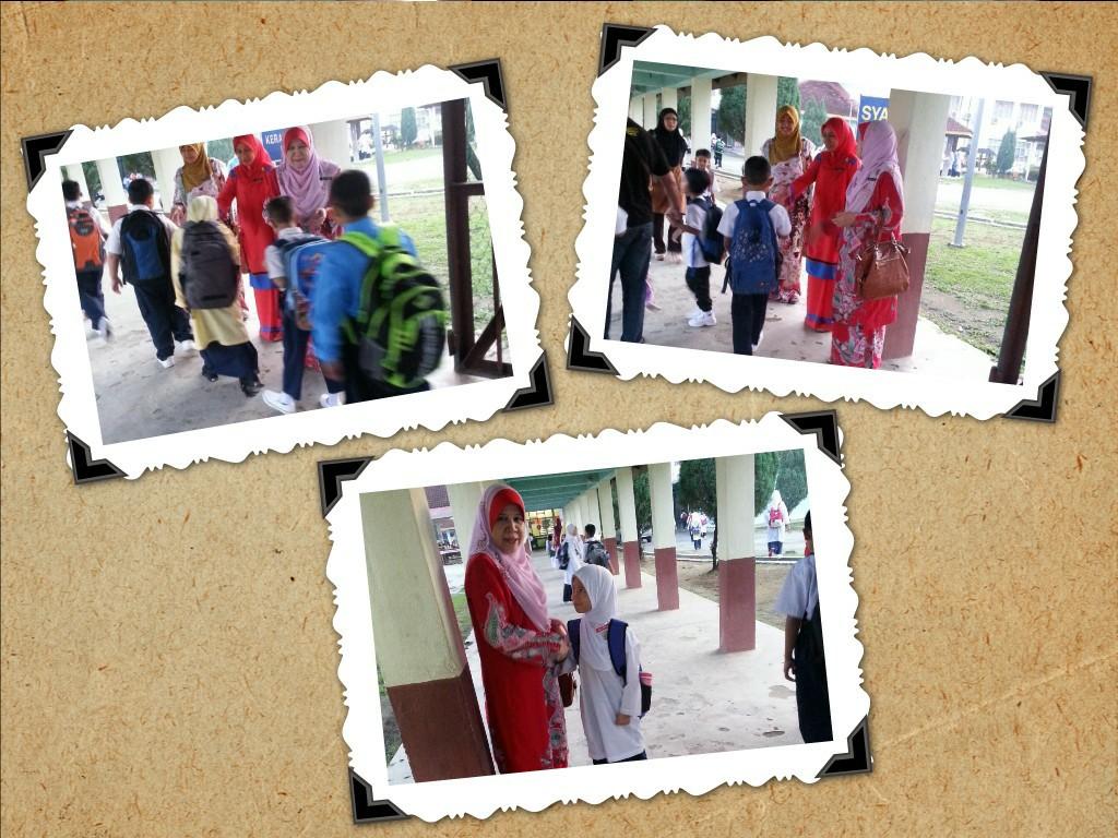 Aksi cikgu dengan murid - 5 5