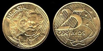 Brazil 25 Centavos (1998+)
