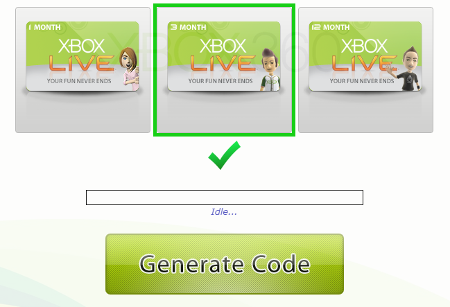Picture of Xbox Gold Code Generator