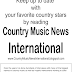 Country Music News International Newsletter March 20. 2017
