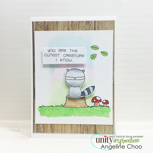 ScrappyScrappy: Unity Stamp BIG Blog Hop [NEW VIDEOS] - Aurora Sky #scrappyscrappy #unitystampco #stamp #card #woodland #copic #aurora #quicktipvideo #youtube