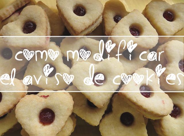 Personalizar el aviso de cookies