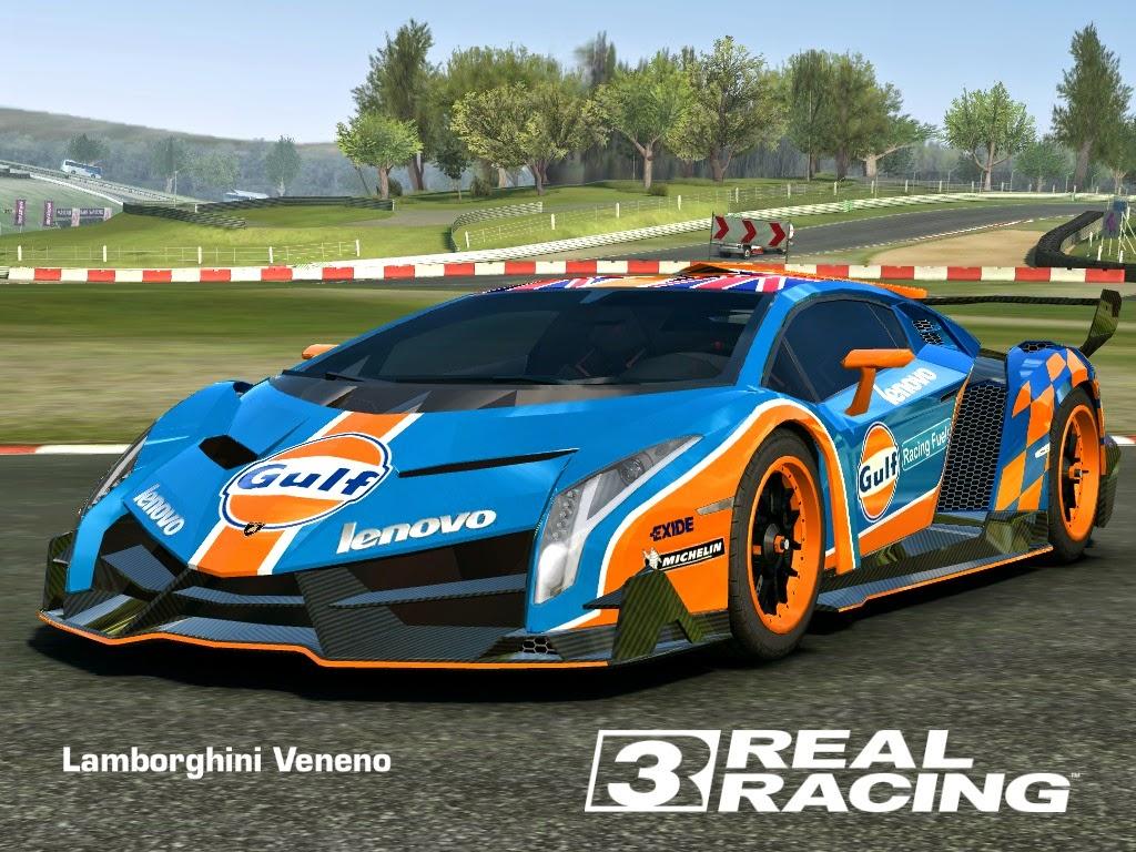 skin gulf - lamborghini veneno (hd livery) | real racing 3 skin and