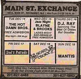 Main ST. Exchange band line up