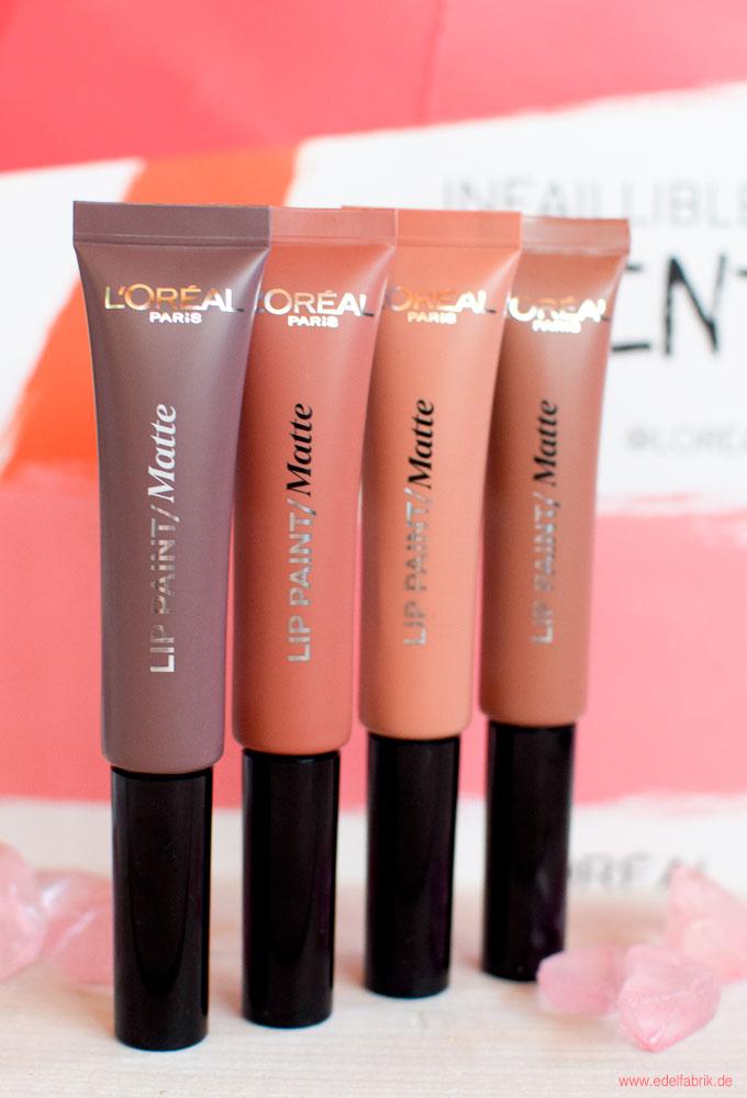 Die neuen Farben L'Oréal Infaillible Lip Paint Matte Nude