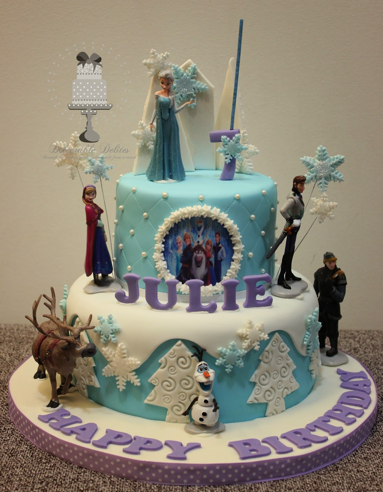 Delectable Delites Frozen Theme Cake For Julie S 7th Birthday