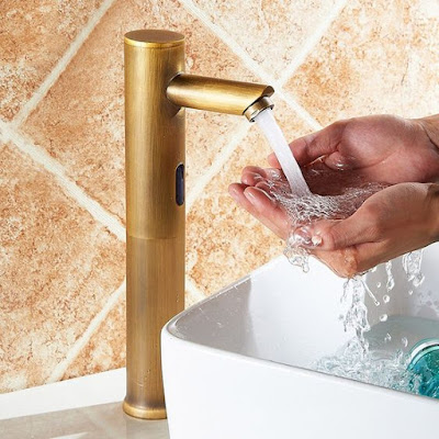 gold touchless faucet