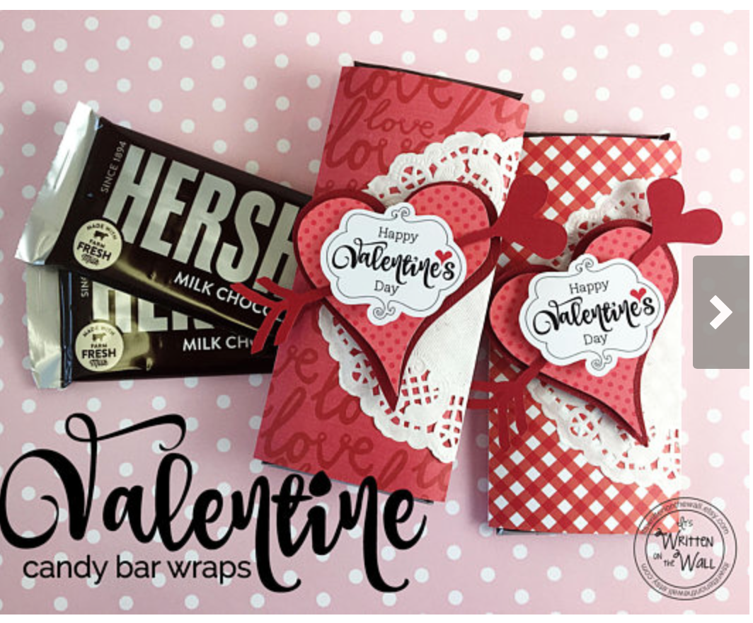 Valentine Treats Candy Card