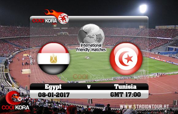 مشاهدة مباراة مصر وتونس اليوم 8-1-2017 مباراة ودية