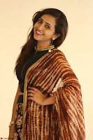 Lasya looks super cute in black choli Saree at Raja Meru Keka Press Meet ~  Exclusive 098.JPG