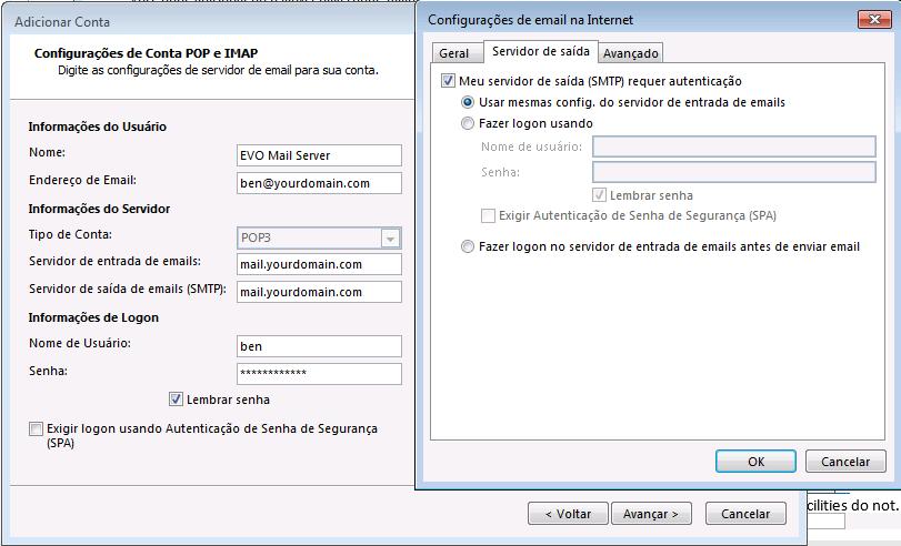O Tuga do IT: Como configurar uma conta do EVO Mail Server ...