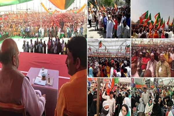अब मुस्लिम भी जुड़ने लगे हैं BJP के साथ, हजारों मुस्लिम रामलीला मैदान में बोले Vote For BJP
