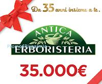 Logo Vinci Gift Box Antica Erboristeria e buono spesa da 35.000 euro
